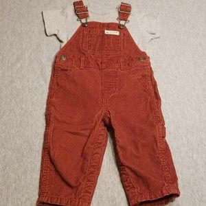 Size 12 Month Carter's Brown Corduroy Overall Set